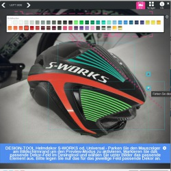 Color Decals S-Works Helmet